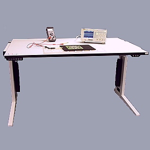 Flexiline adjustable height work table (esd) or adjustable height workbench